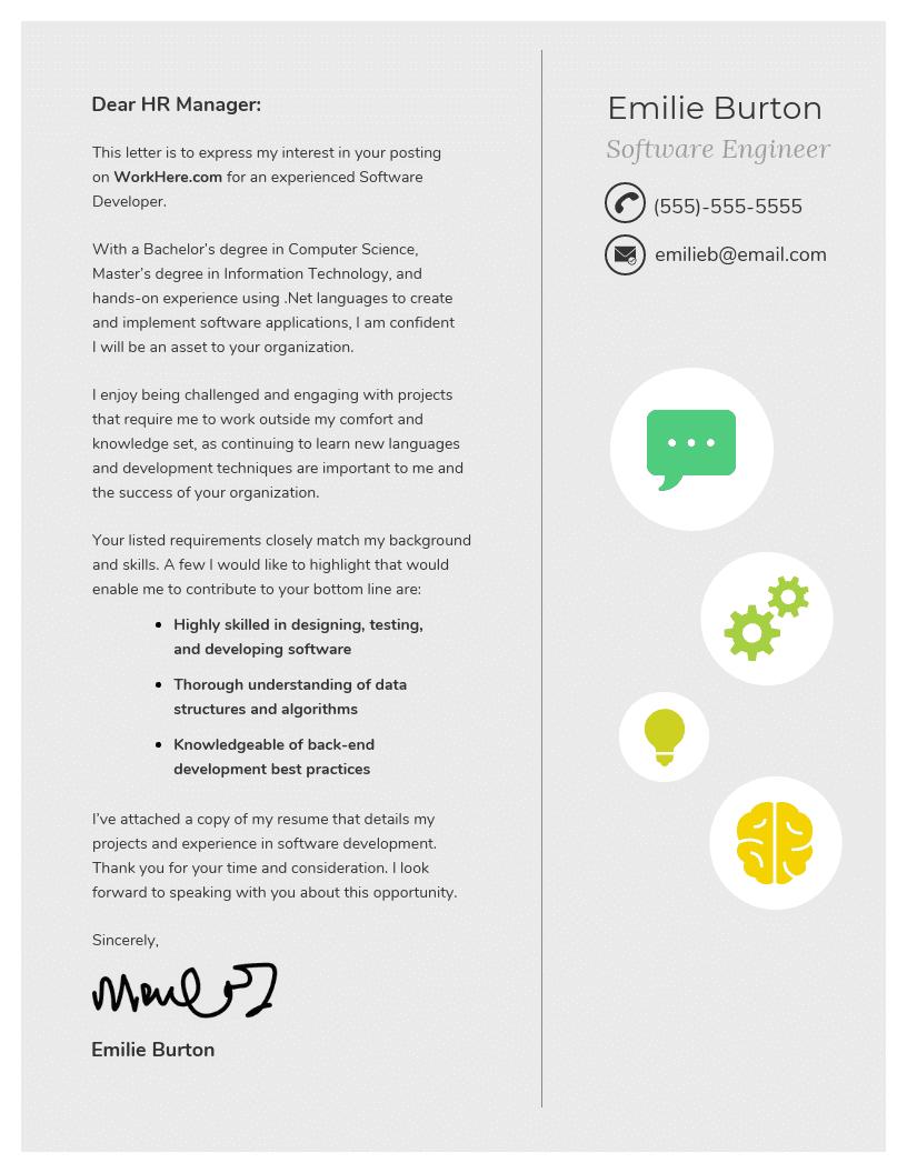 modello lettera di presentazione