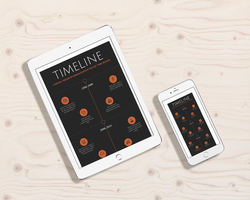 Black-Modern-Timeline-Template