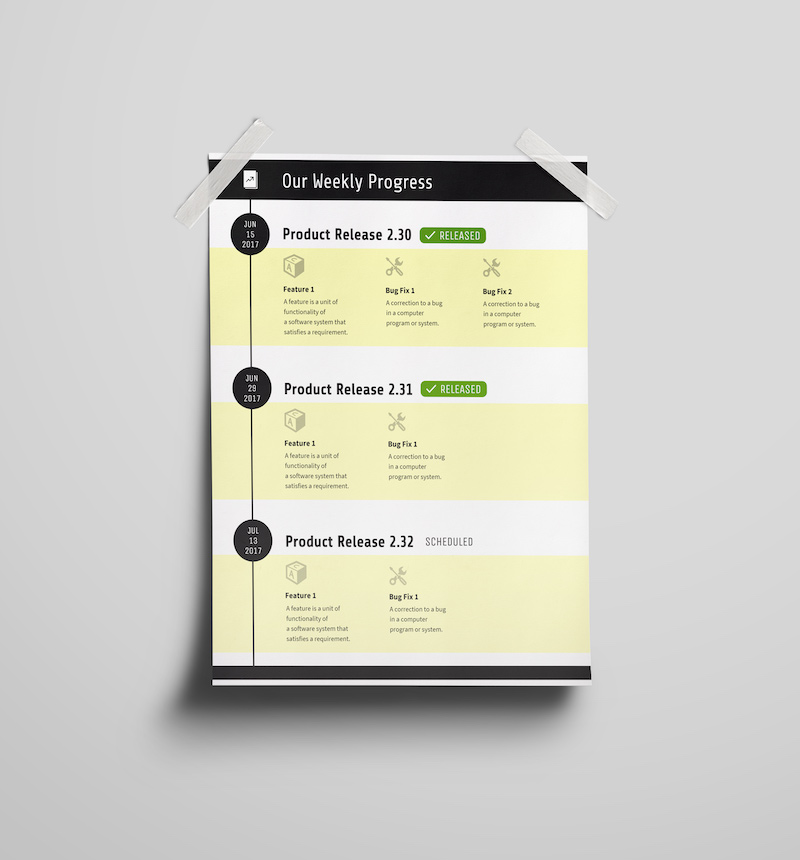 Weekly-Progress-Product-Release-Timeline-Template