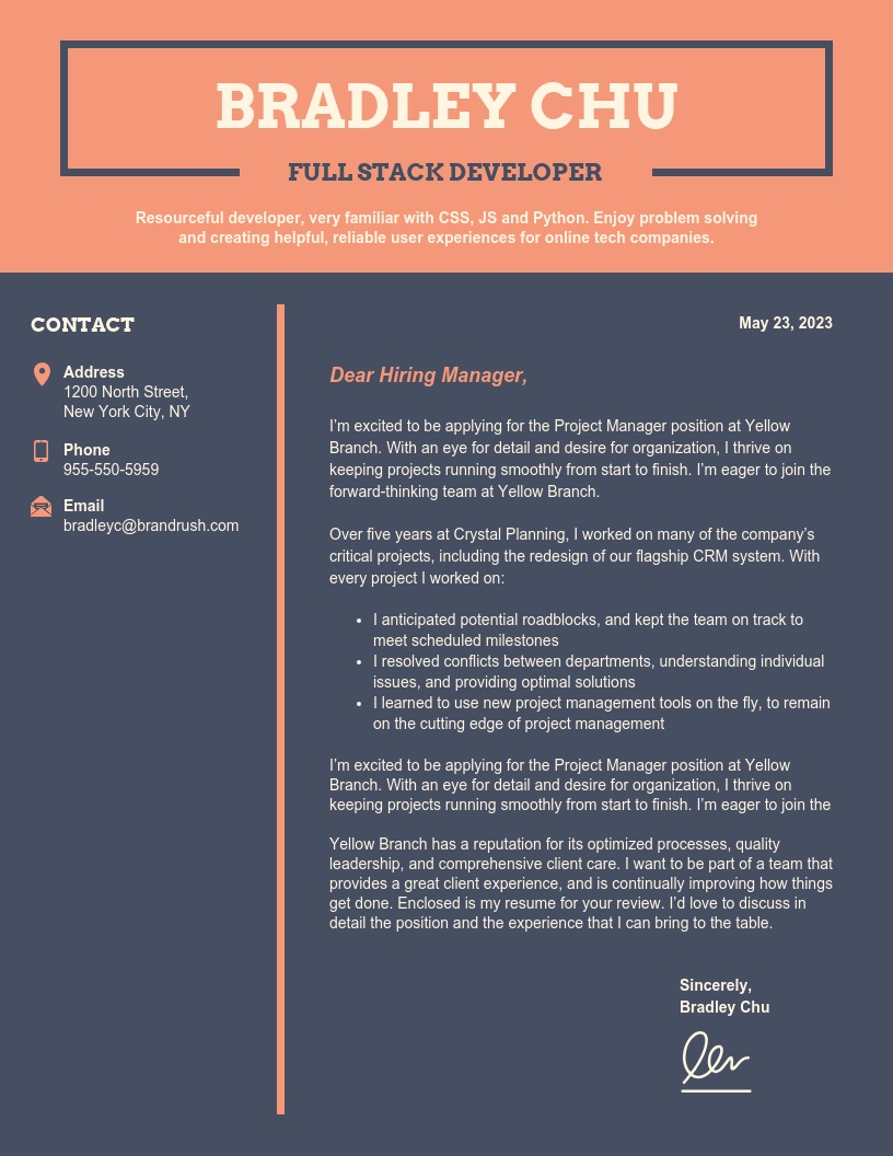 Dark-College-Student-Cover-Letter-Template