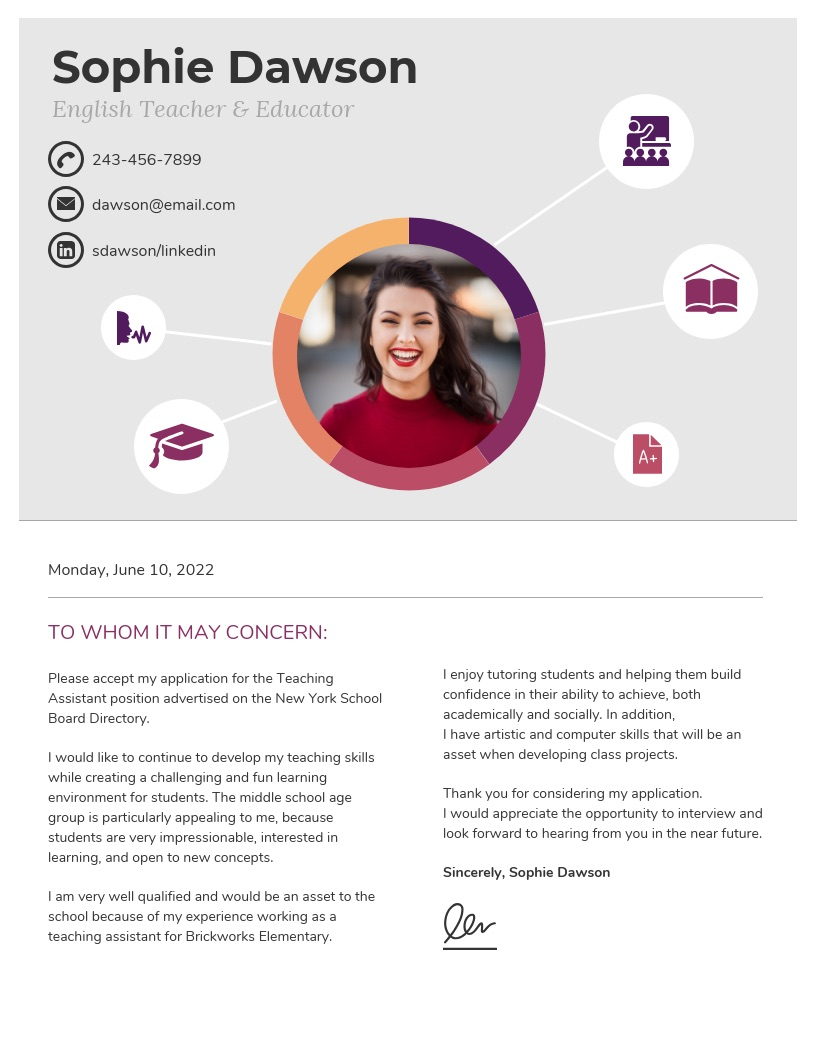 Light-College-Student-Cover-Letter-Template