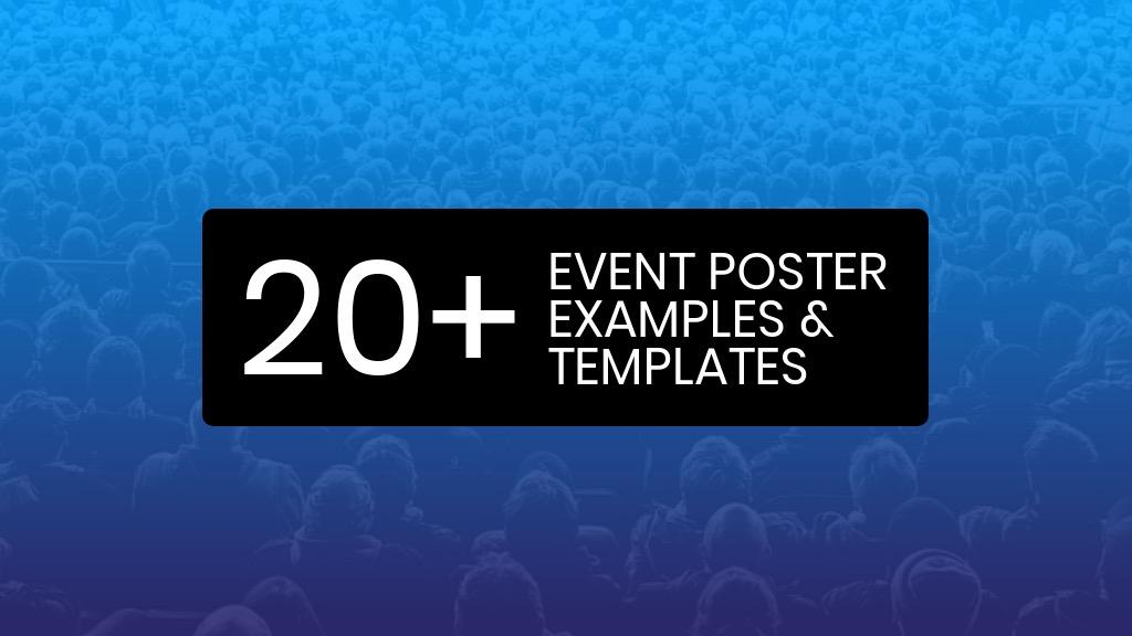 20+ consigli e modelli di design per poster evento